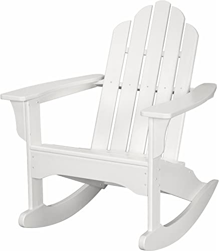 Hanover Outdoor Furniture HVLNR10WH All Weather Contoured Adirondack Rocking Chair