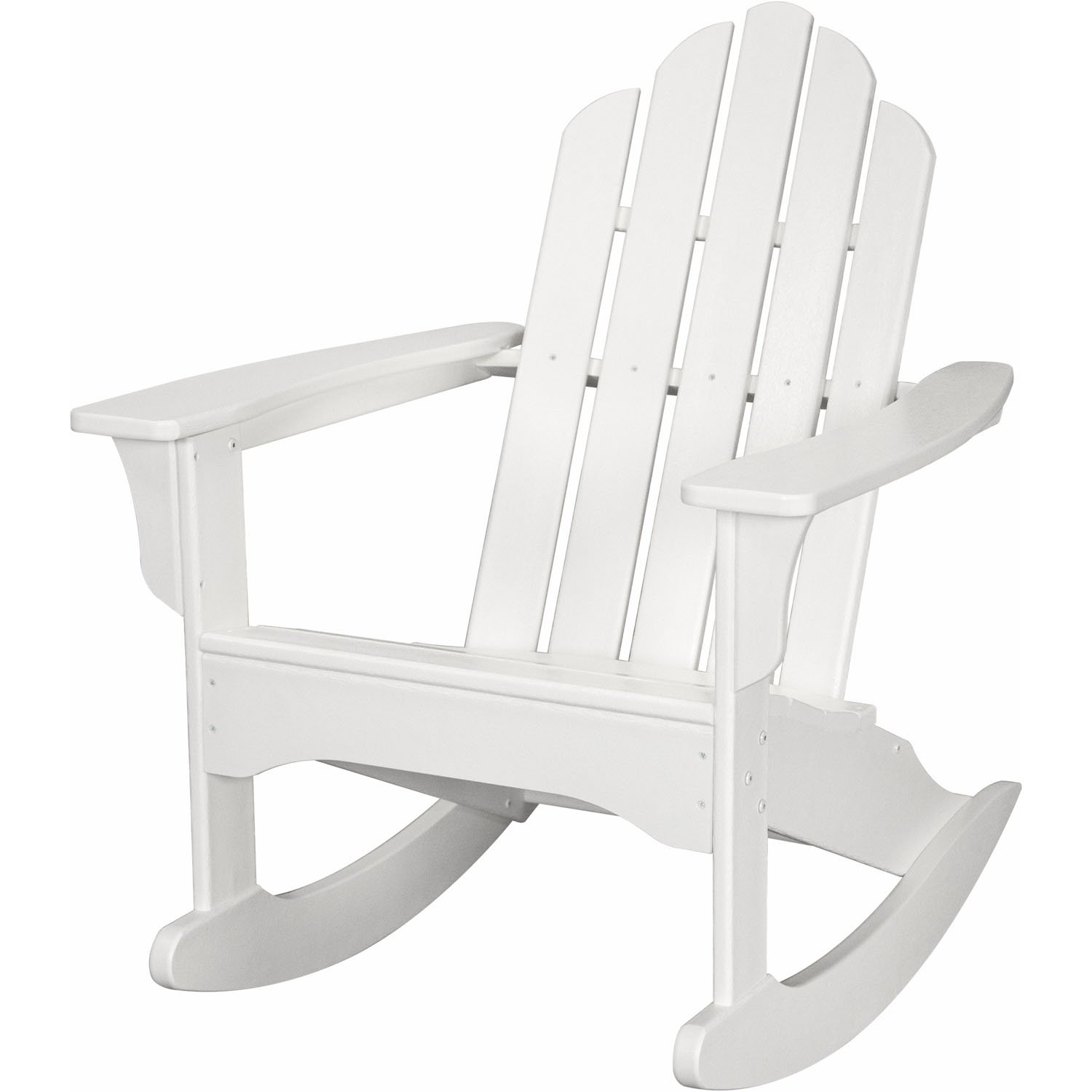 Hanover Outdoor Furniture HVLNR10WH All Weather Contoured Adirondack Rocking Chair, White
