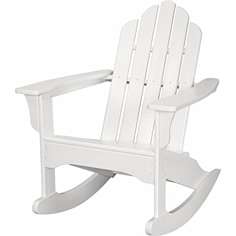 hanover outdoor furniture hvlnr10wh all weather contoured adirondack rocking chair white