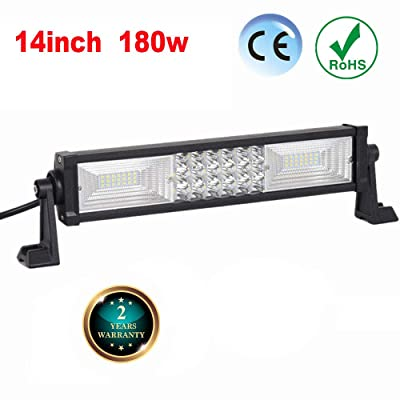 FSYF Led Light Bar 16 Inch 180w 3 Rows 9-32v Led Work Light Spot Flood Combo Led Driving Lights Fog Lights Jeep Offroad Lights Suv Atv 4wd Truck Boat Lighting: Automotive