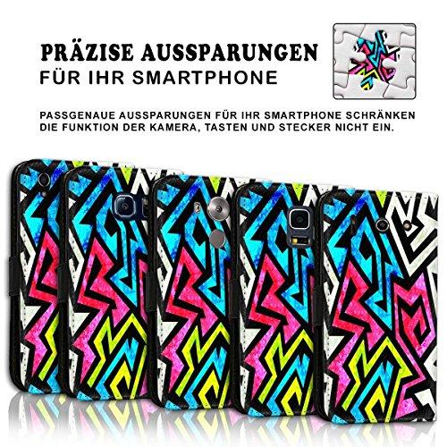 Wallet Book Style Flip Handy Tasche Case Schutz Hülle Schale Motiv Etui für Apple iPhone 6 Plus / 6S Plus - Design Flip MVD91