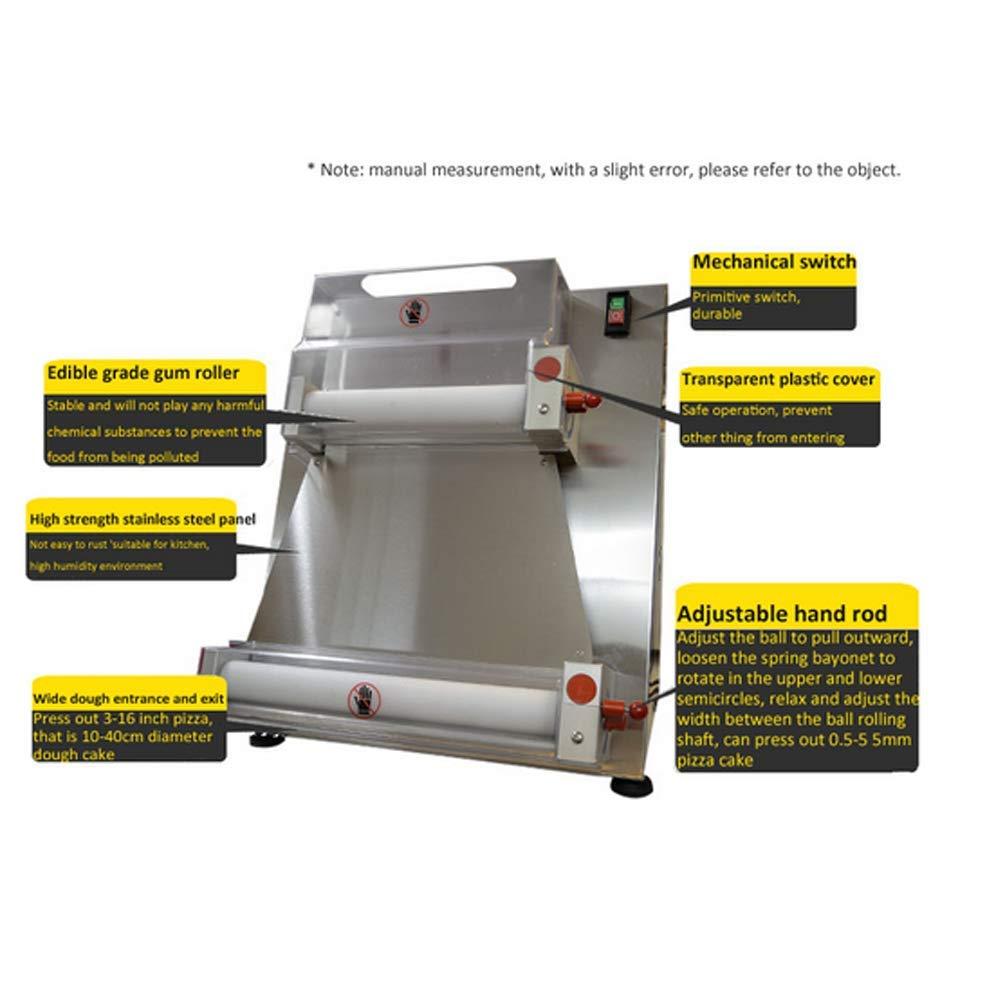 Amazon.com: Enshey 370w Máquina de rodillos para masa de ...