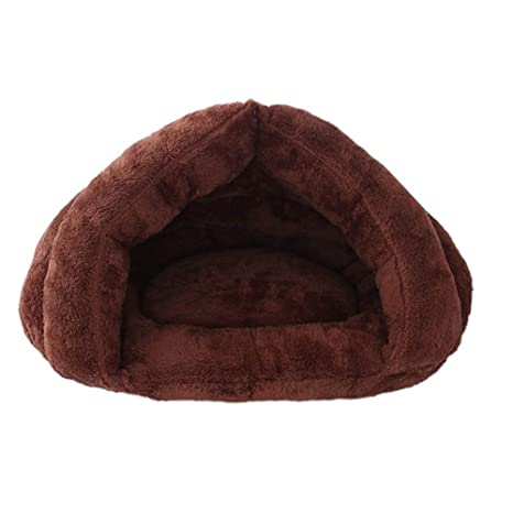 Espeedy Cama del animal doméstico,Otoño invierno cama para mascotas color sólido peluche calurosa zona. Pasa ...