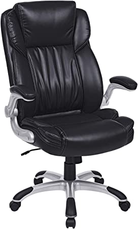 Songmics Soft And Comfortable Office Chair Obg94bk Amazon Co Uk Kitchen Home
