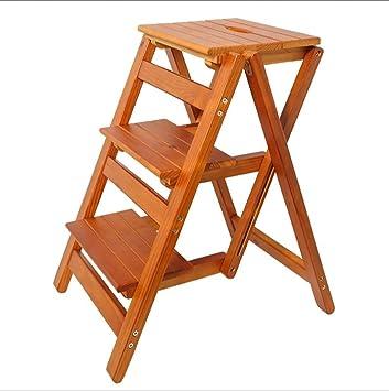 XH shop Escalera plegable Hogar Escalera alta Utilidad de madera Multifuncional Ascender Escalera plegable de madera maciza Escalera de madera maciza para el hogar XXHH (Color : C): Amazon.es: Bricolaje y herramientas