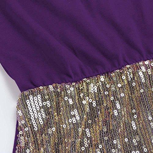 Bling Sexy paule sans Mode Corps Vintage Paillettes Blouson Mini Robe LILICAT Robe lgante Violet Shaper Robe Froid paule Bretelles Mini Hors Sequin de Femmes HEwSq8p
