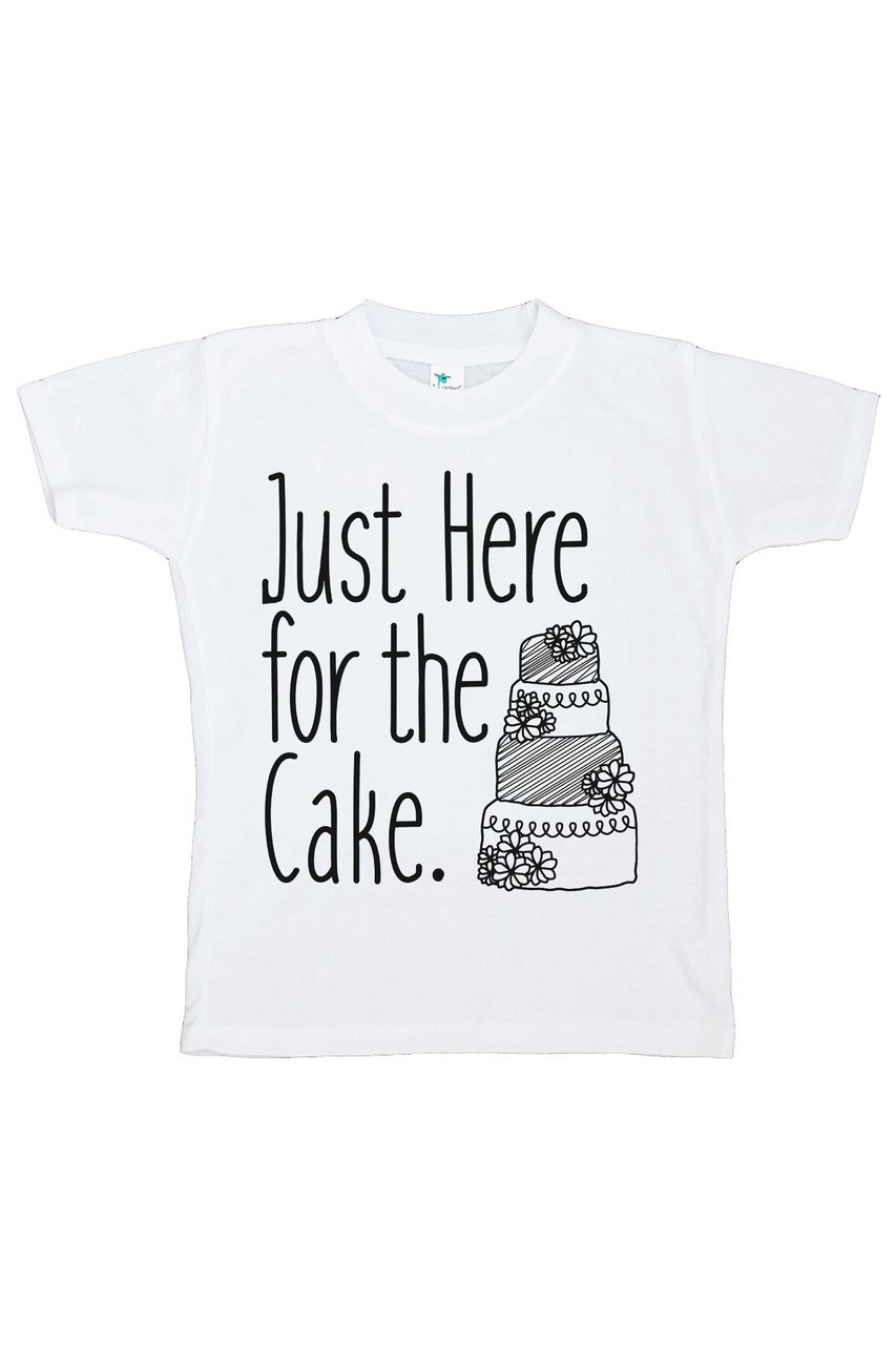Custom Party Shop Girl's Here For The Cake Wedding T-shirt XL