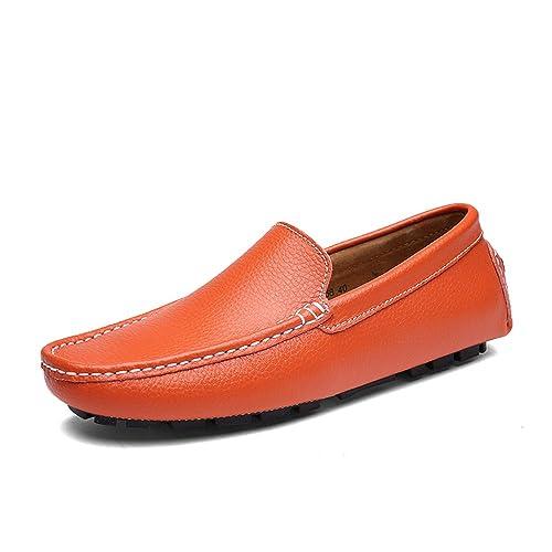 AARDIMI - Pantuflas y Mocasines de Caucho Hombre, Color Naranja, Talla 38 EU