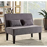 Furniture of America Terry Fabric Settee in Gray