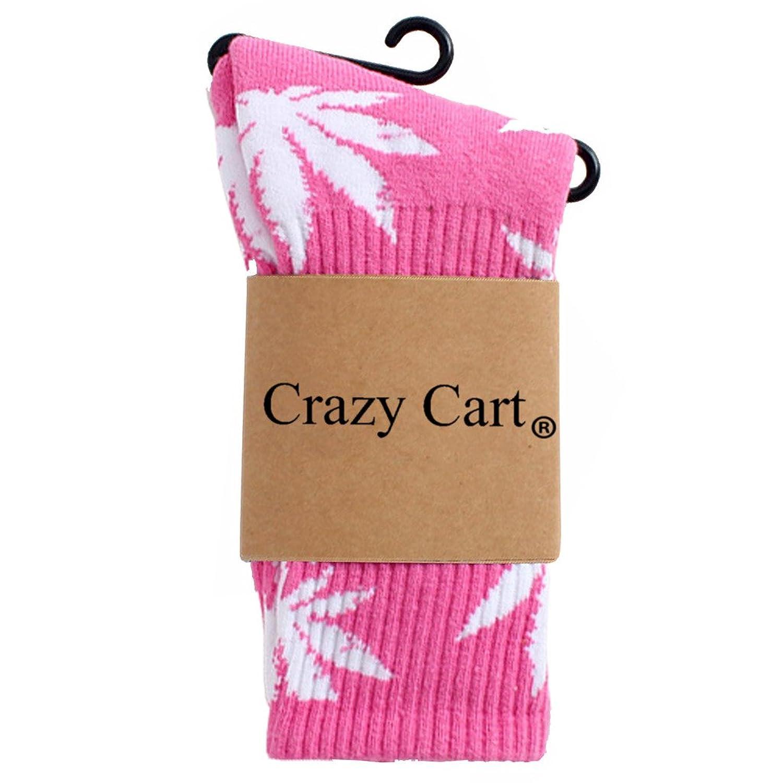 Crazy Cart Christmas Thick Cotton Sock Hip Hop Sliding Plate Sport Socks Marijuana Leaf Socks for Women