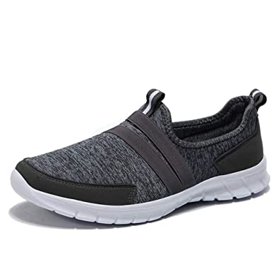ebde7c2cb7321 ZYEN Women s Comfortable Walking Shoes Casual Slip On Ladies Lightweight Athletic  Sneakers Dark Grey 5.5 US
