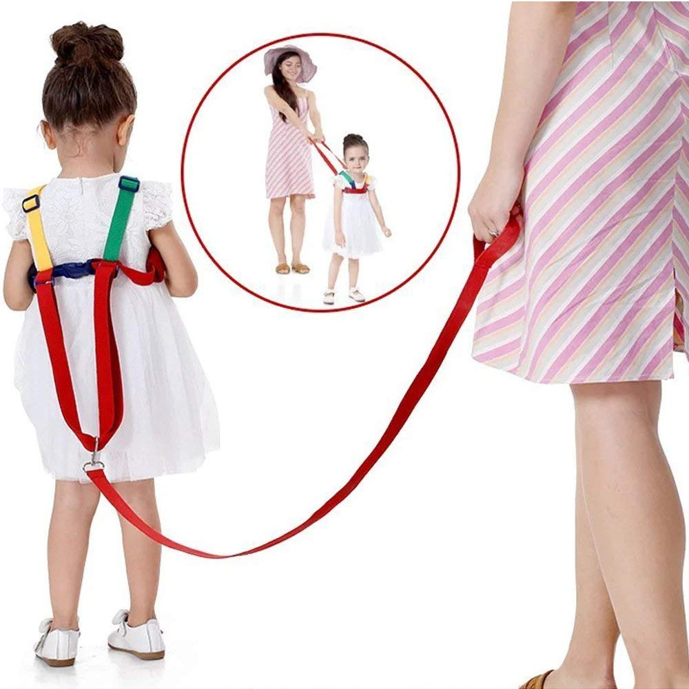 Wrist Link Wrist Leash Red Children/'s Safety for Children of 0-5 Years 2 in 1 Kids Walking Safety Harness Red//Blue Strap and Hand Belt euwanyu Baby Anti-Loss Belt Safety Harnesses