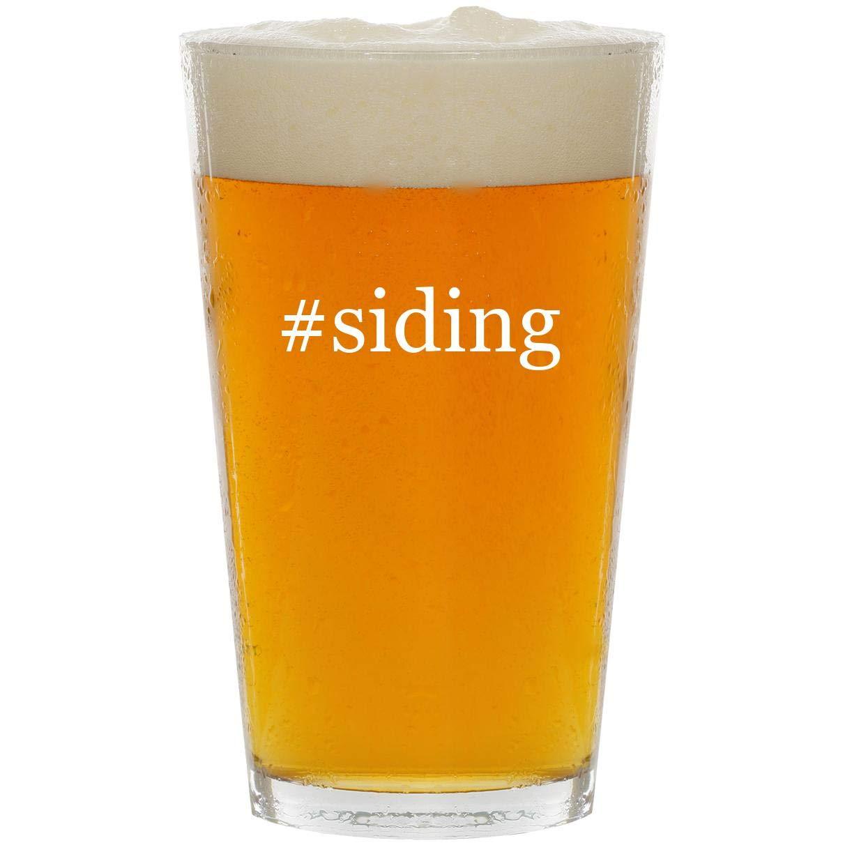 #siding - Glass Hashtag 16oz Beer Pint