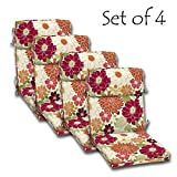 Cheap SET of 4 Outdoor Dining Chair Cushions, Single Welt and Zipper 44 x21x4.50 in Polyester fabric Sorbet Floral by by Comfort Classics Inc.