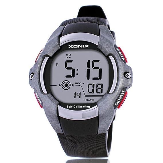 Deportes de múltiples funciones de los hombres reloj digital, Tiempo de pista al aire libre