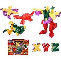 FidgetGear Children Transformation Toys Letters Puzzle Alphabet Transform Robot Set Kids Educational Building Blocks