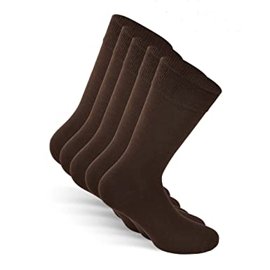 b27e3c472ece SNOCKS ® Men Business Socks (5 Pairs) Sizes 6-14 (Black, Blue, Brown, Grey)  - Cotton: Amazon.co.uk: Clothing