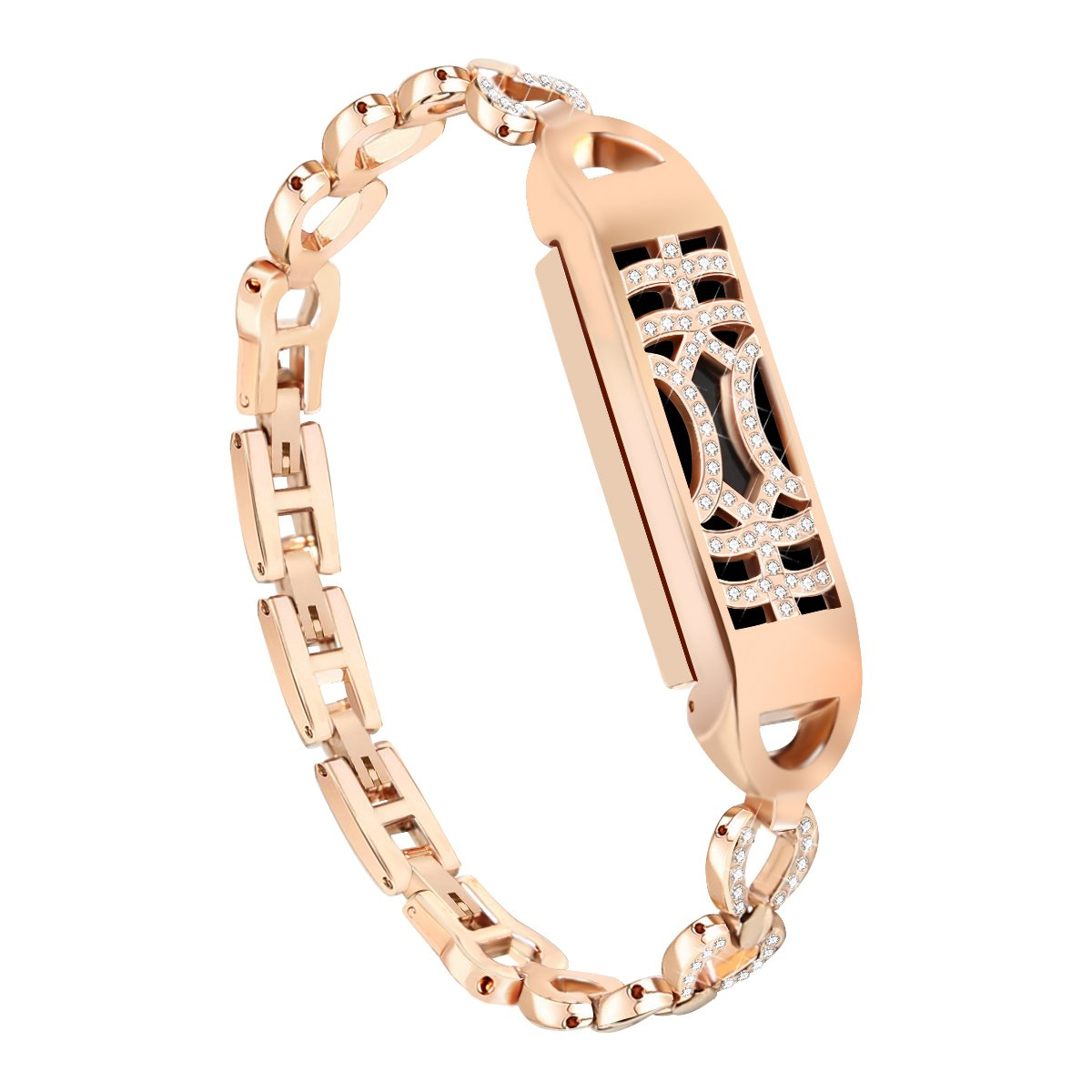 Stainless Steel For Fitbit Flex 2 Band Replacement Rose Gold Strap Bracelet Wristband (No Tracker) Small