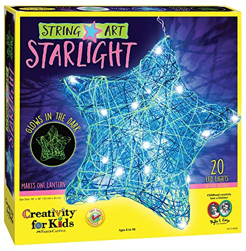 Creativity for Kids String Art Star Light - LED String Art Lantern Craft Kit