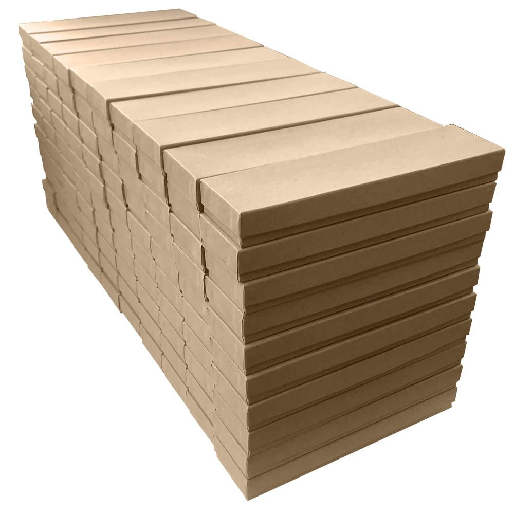 Pack of 100 Kraft Cotton Filled Jewelry Packaging Gift Boxes #21