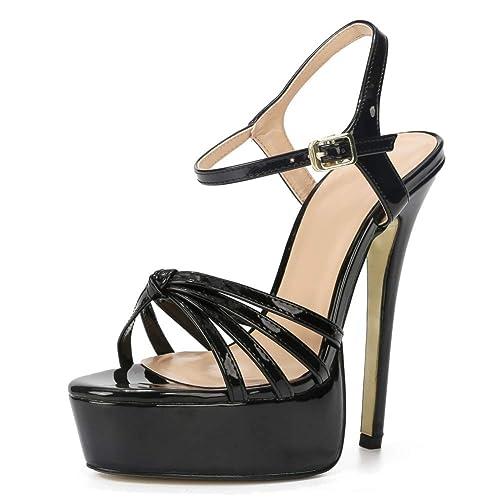 ef8b24ec96e34 fereshte Men's Women's Crossdresser Drag Queen Platform Stiletto High Heels  Sandals Party Pumps Large Size