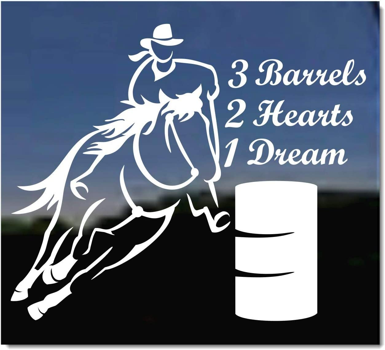 ghjkuyt412 Barrel Racing Horse 3 Barrels 2 Hearts 1 Dream 3x5 Foot Flags Outdoor Flag 100/% Single-Layer Translucent Polyester 3x5 Ft