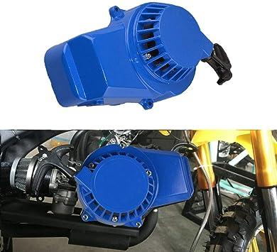 NEW Metal Mini Pocket Bike Pull Start 47cc 49cc Aluminum ATV Recoil Starter Blue