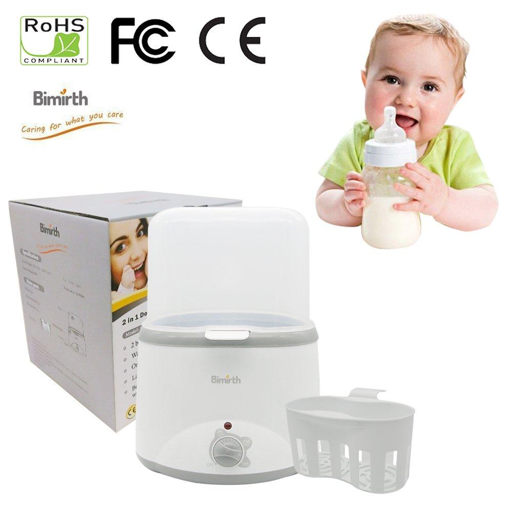 Per Brust-Milch-Wärmer-Baby-fesselnde Flaschen-Wärmer u. Dampf-Sterilisator für doppelte Flasche