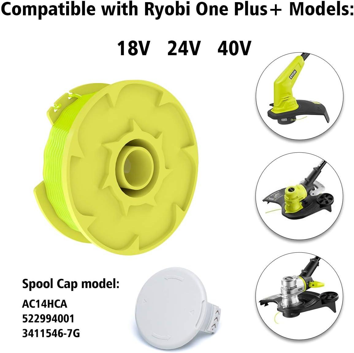 """Recambio 18V//24V//40V For Ryobi AC80RL3 Twisted Trimmer Line And Spool 0.080/"""""""