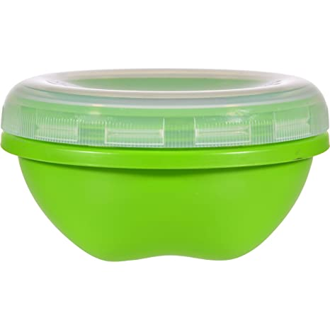 Beau Preserve Food Storage Container   Round   Small   Apple Green   19 Oz   Case