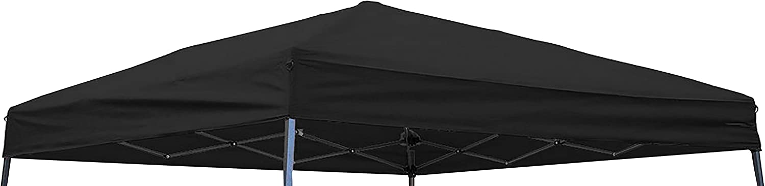 Trademark Innovations Square Replacement Canopy Gazebo Top for 10' Slant Leg Canopy, 8 by 8', Black