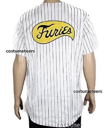 eca722274 Amazon.com  Furies Style Striped Baseball Jersey Shirt Costume T-Shirt   Clothing
