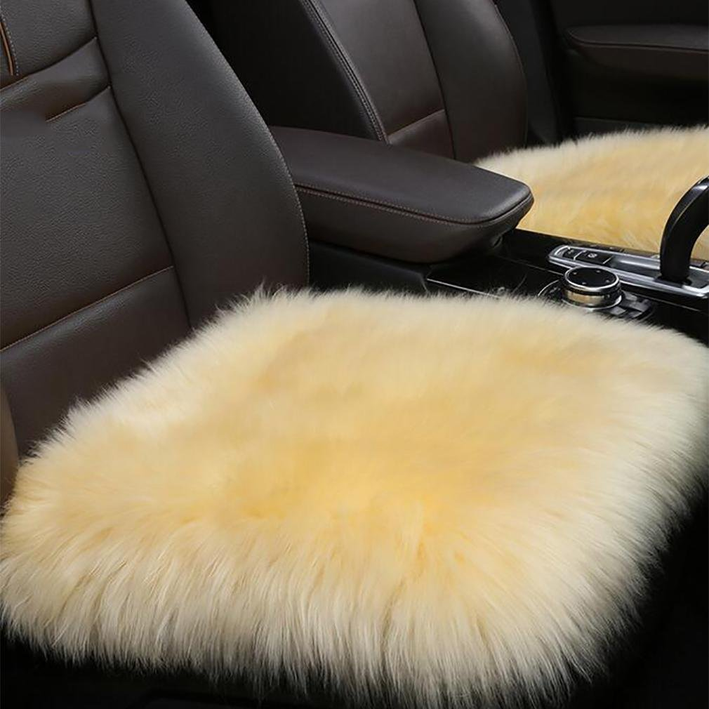 LPY Sheepskin Universal warm Car Seat Covers , han pink by seat cushion (Image #1)