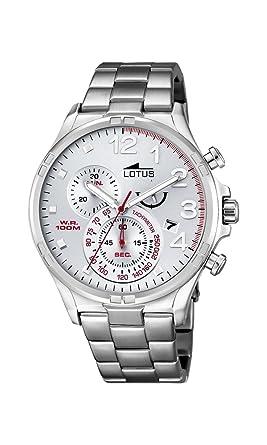 565886e65f75 Lotus Reloj Analógico para Hombre de Cuarzo con Correa en Cuero 10126 1   Amazon.es  Relojes