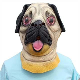 Halloween Mask Latex Animal Pug Mask Holiday Party Decoration Props