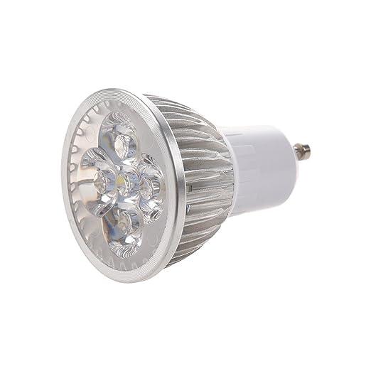 TOOGOO(R)4 LED GU10 Luz Bombilla 4W Blanco frio 85-265V