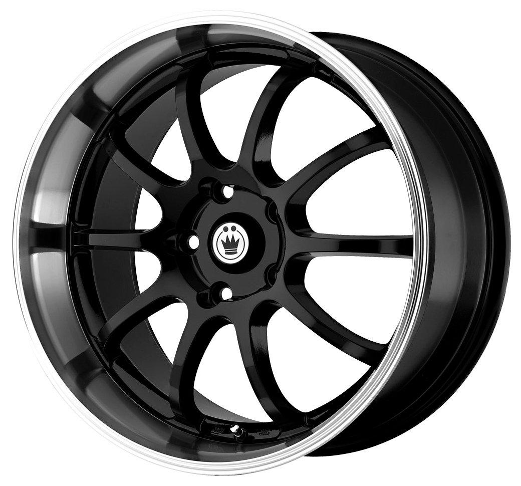 Konig Lightning Gloss Black Wheel with Machined Lip (14×6″/4x100mm)