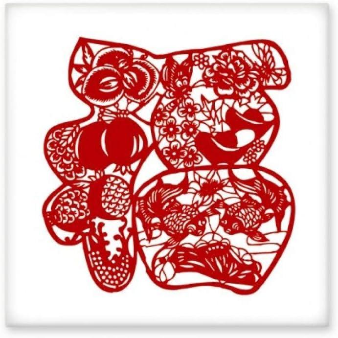 Azulejos de cerámica brillante con diseño de pájaros y flores, ideal para decoración de pared o baño, ideal como regalo