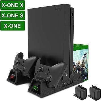 Fyoung - Soporte de carga vertical para Xbox One/One S/One X, con ...
