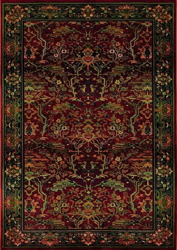 Kharma 465R4 Area Rug, 2 x 3 , Red