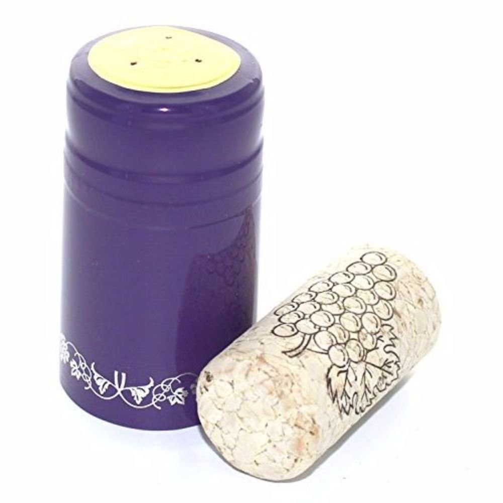 Purple with Silver Grapes Home Brew Ohio Professional Cork-PVC Package HOZQ8-667