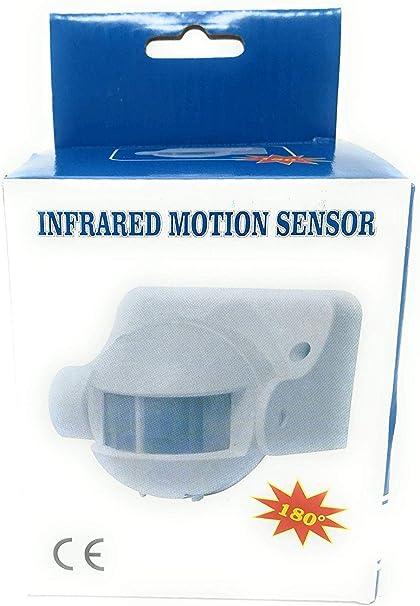 Sensore Di Movimento Ad Infrarossi PIR Angolo D/'azione Di 180° Crepuscolare 10