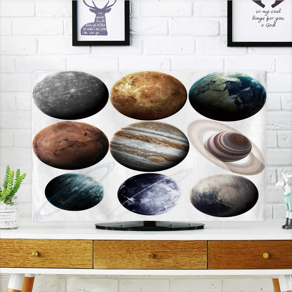 Philiphome Television Protector Isolated Planets in The Solar System Element furnished by NASA Television Protector W25 x H45 INCH/TV 47''-50'' by Philiphome