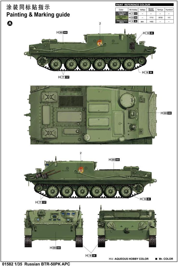 russian amphibious personnel carrier  BTR-50PK APC 1:35 Trumpeter 01582 Neu