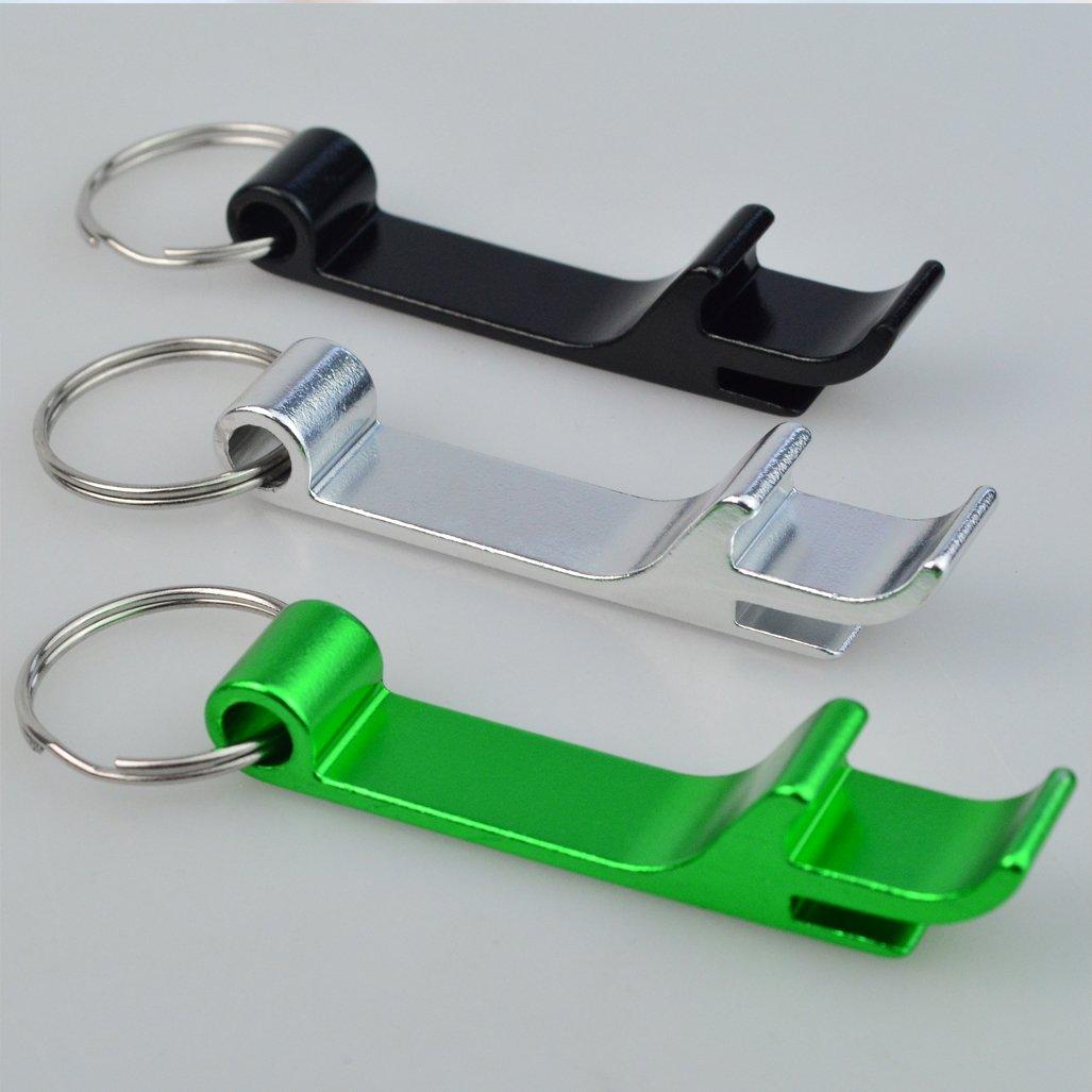 Split Key Ring Chain Keychain Bulk Aluminum Pocket Claw Bar Soda Beverage Beer Bottle Opener cnomg 16 pcs 8 Colored Metal Bottle Opener