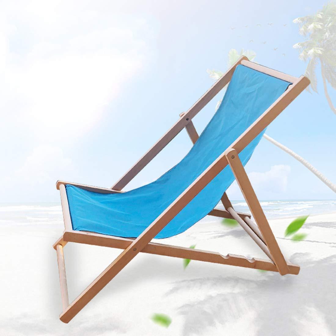 Gmnoy Silla de Playa Plegable de Madera al Aire Libre ...