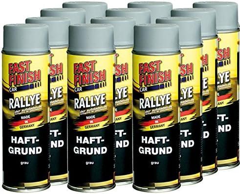 12x 500 Ml Fast Finish Car Rallye Haftgrund Grundierung Grau Spraydose 292811 Auto
