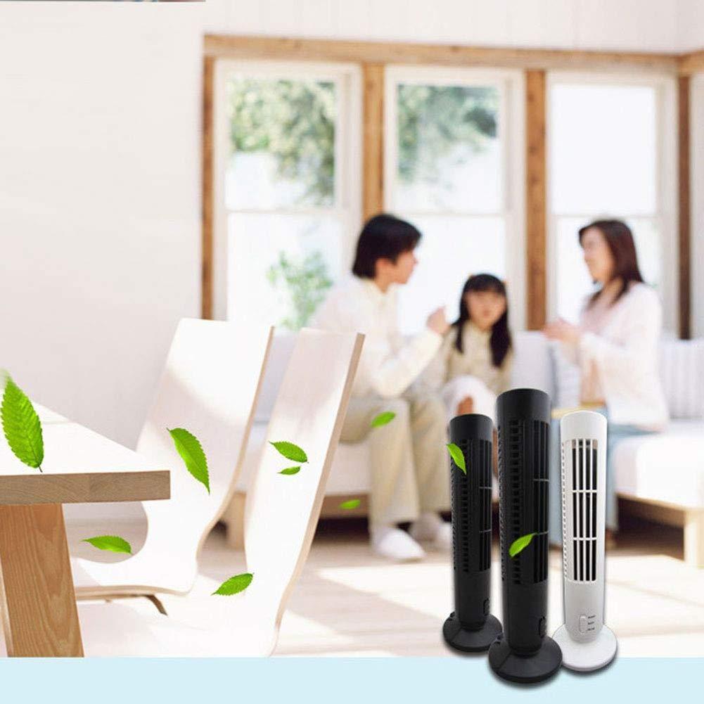 buyanputra Universal Mini Portable USB Fan Columnar Air Cooling Electric Desk Fan for School Office