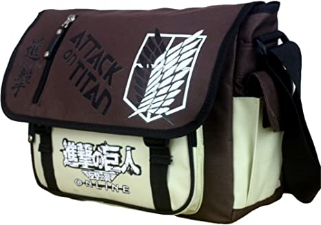 Gumstyle Attack on Titan Anime Cosplay Handbag Messenger Bag Shoulder School Bags