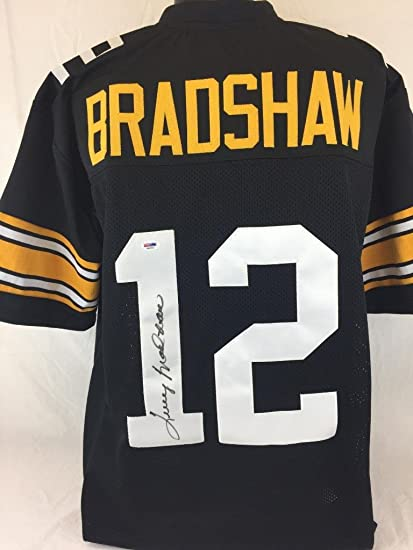 finest selection 72695 722e2 TERRY BRADSHAW SIGNED JERSEY PSA COA PITTSBURGH STEELERS ...
